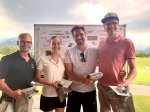Die Tagessieger Martin Veith, Lisa Walla, Robin Forster und Raphael Ender (v.l.n.r.)